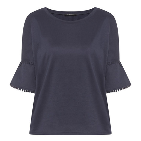 Nerone Ruffle Sleeve T-Shirt, ${color}