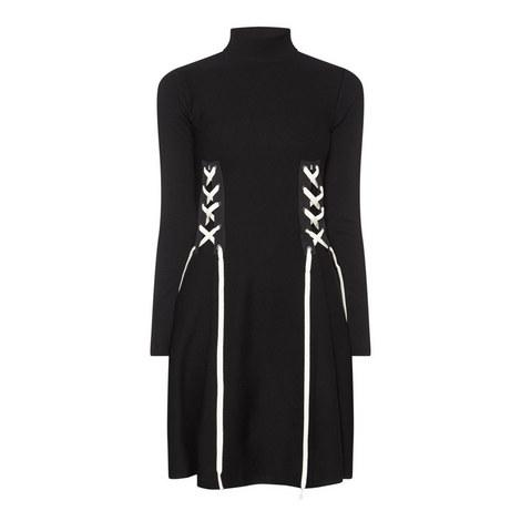 Nias Lace-Up Dress, ${color}