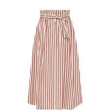 Olivi Cotton Stripe Skirt