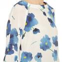 Orleans Floral Tie Sleeve Blouse, ${color}