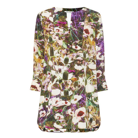 Ossola Floral Silk Tunic , ${color}