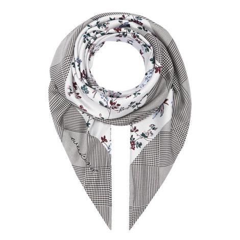 Opale Floral Print Silk Scarf, ${color}