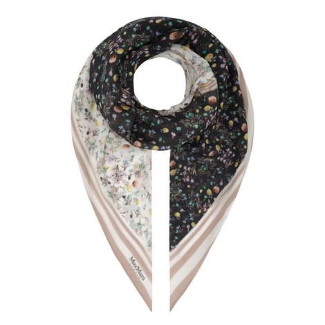 Ortles Printed Silk Scarf, ${color}