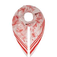 Ortles Printed Silk Scarf