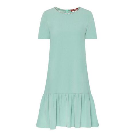 Ozio Jewel Neckline Dress, ${color}