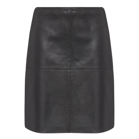Pio Leather Skirt, ${color}