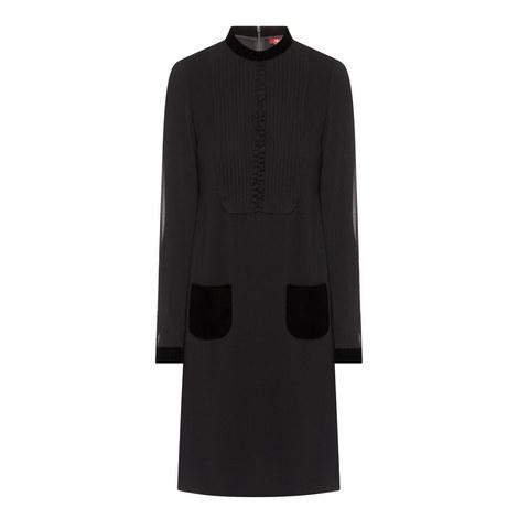 Pirenei Velvet Trim Dress, ${color}