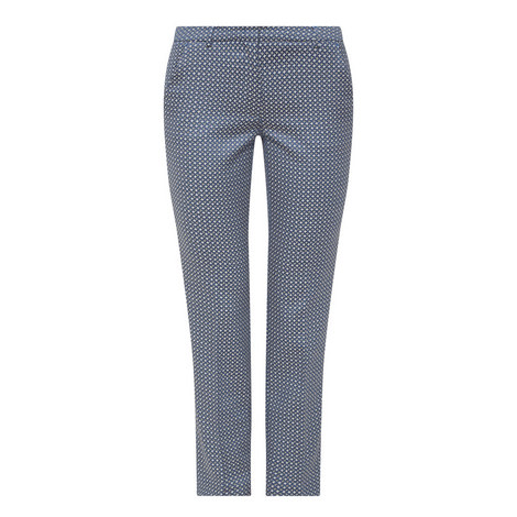 Plava Slim Fit Cigarette Trousers, ${color}