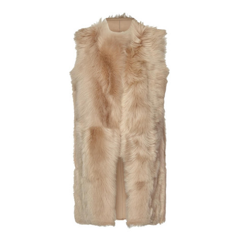 Prince Shearling Leather Gilet, ${color}