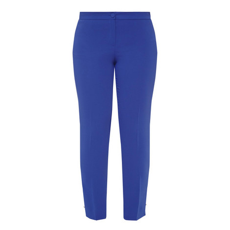 Revival High Waist Slim Trousers, ${color}