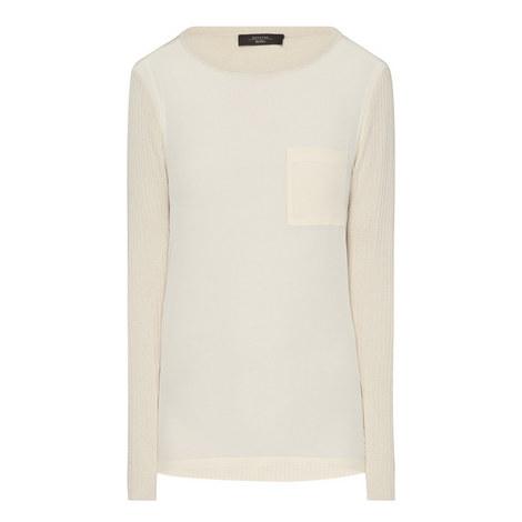 Segreto Mixed Media Sweater, ${color}