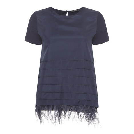 Sella Feather Trim T-Shirt, ${color}
