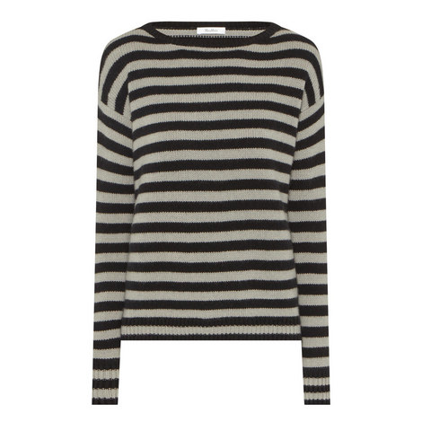 Sevres Stripe Cashmere Sweater, ${color}