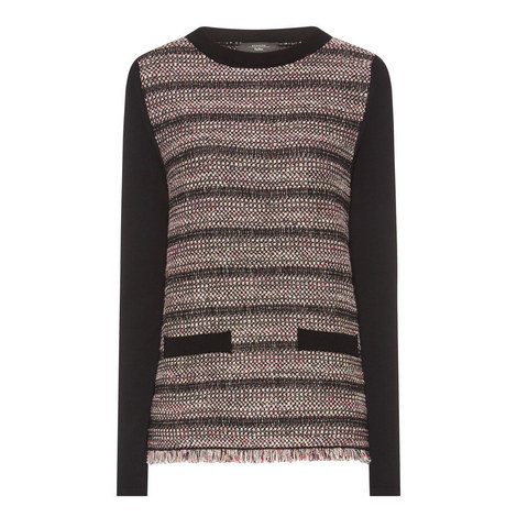 Sila Metallic Knit Sweater, ${color}