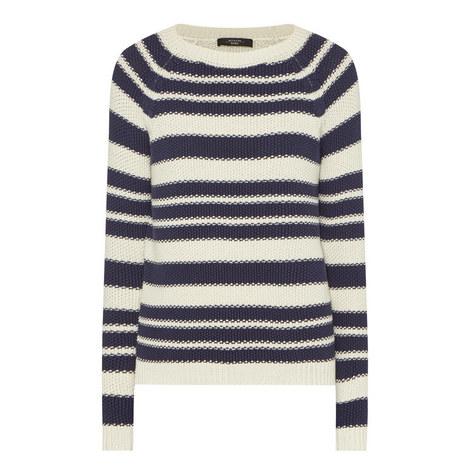 Sonni Stripe Knit Sweater, ${color}