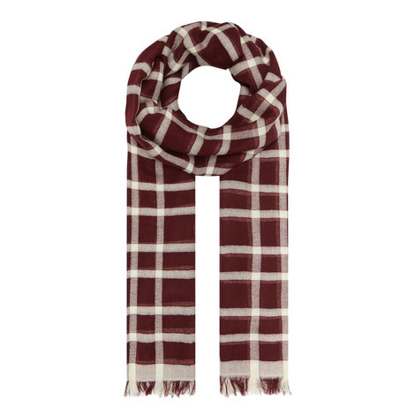 Strenna Check Pattern Scarf, ${color}