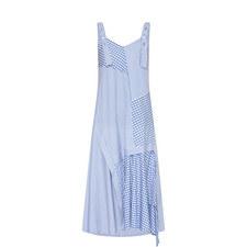 Asymmetric Hemline Pinafore Dress