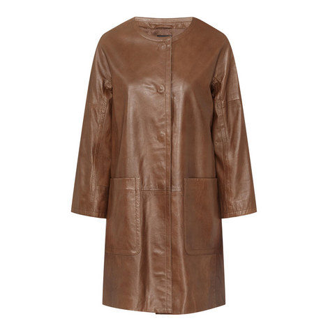 Taverna Leather Coat, ${color}