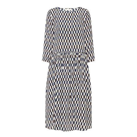 Burano Geometric Print Dress, ${color}