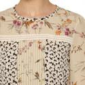 Tobia Ditsy-Print Silk Top, ${color}