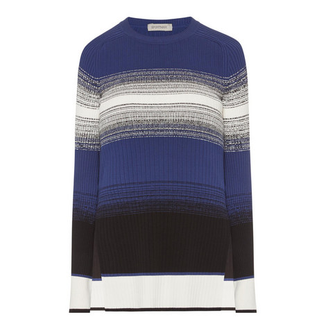 Torre Stripe Pattern Sweater, ${color}