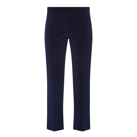 Cropped Corduroy Trousers, ${color}