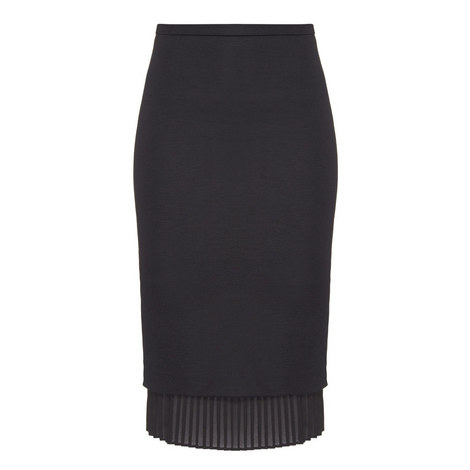 Uvetta Pleat Hem Pencil Skirt, ${color}