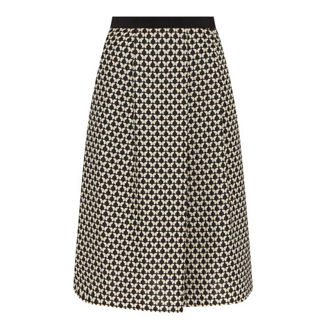 Valance Patterned Midi Skirt, ${color}