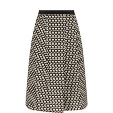 Valance Patterned Midi Skirt