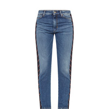 Valle Stripe Trim Jeans