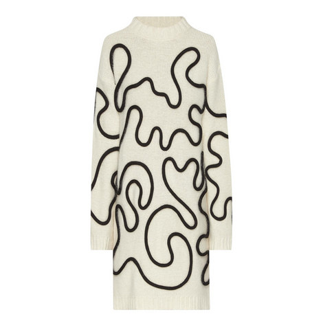 Virgola Patterned Sweater Dress, ${color}