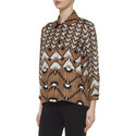 Vite Patterned Silk Shirt, ${color}