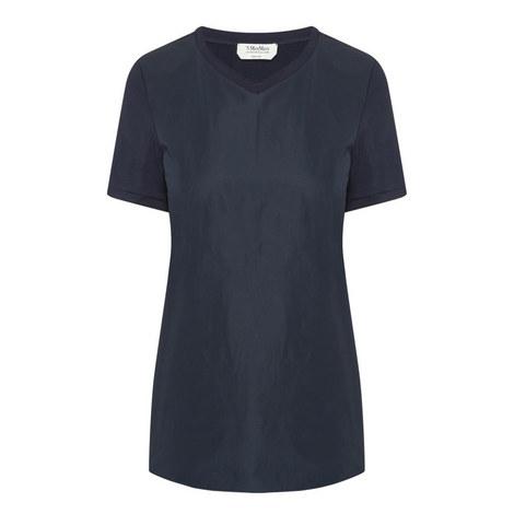 V-Neck Short Sleeved Top, ${color}