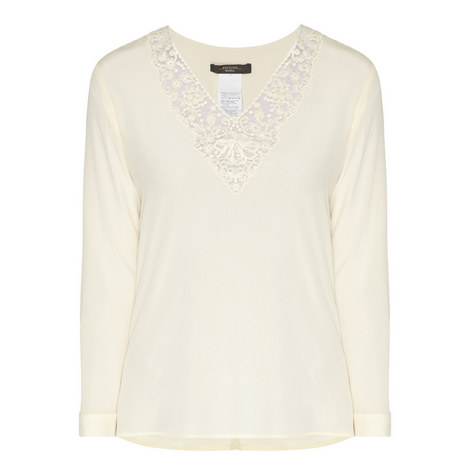 Zelinda Lace V-Neck Blouse, ${color}