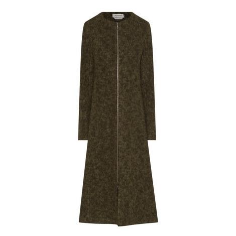 Zigote Zip Wool Coat, ${color}