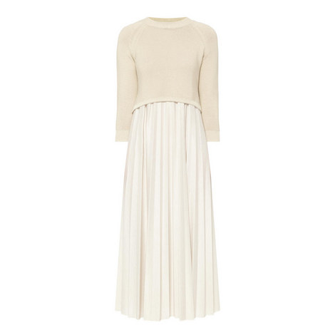 Zucca Sweater and Pleated Dress, ${color}
