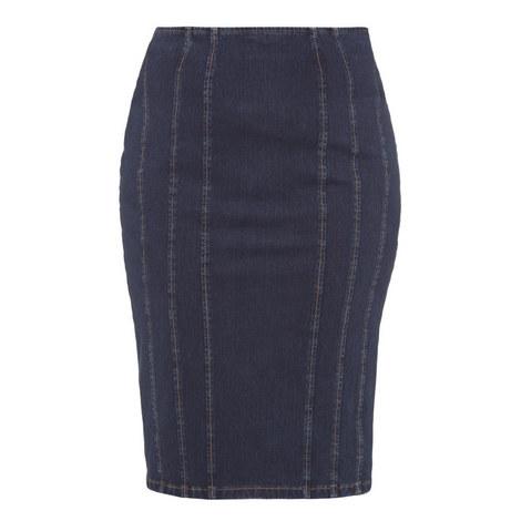 Denim Strech Skirt, ${color}