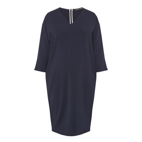 Dattero V-Neck Dress, ${color}