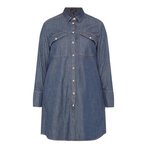 Falda Denim Shirt Dress, ${color}