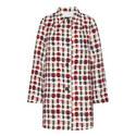 Nina Button Print Coat, ${color}