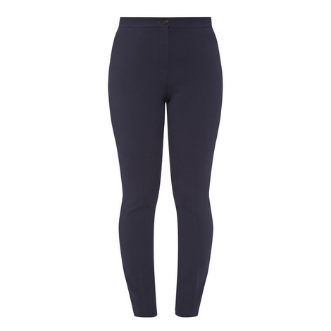 Regime High Waist Slim Trousers, ${color}