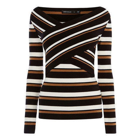 Striped Wrap Top, ${color}