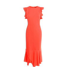 Fitted Ruffle Dress