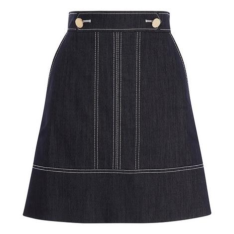 Denim A-Line Skirt, ${color}