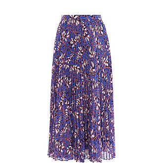 Floral Pleated Skirt