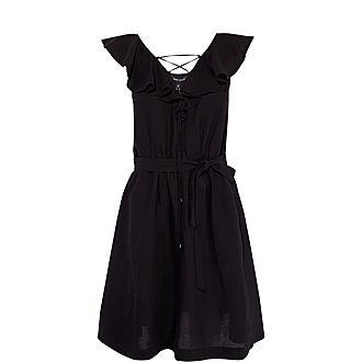 Ruffle Lace Midi Dress