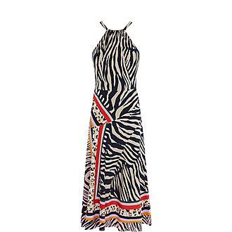 Zebra Scarf Dress