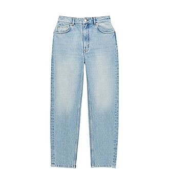 Mum-Style High-Waisted Jeans