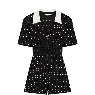 Retro Polka Dot Playsuit