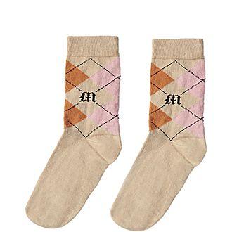 Plaid Cotton Socks